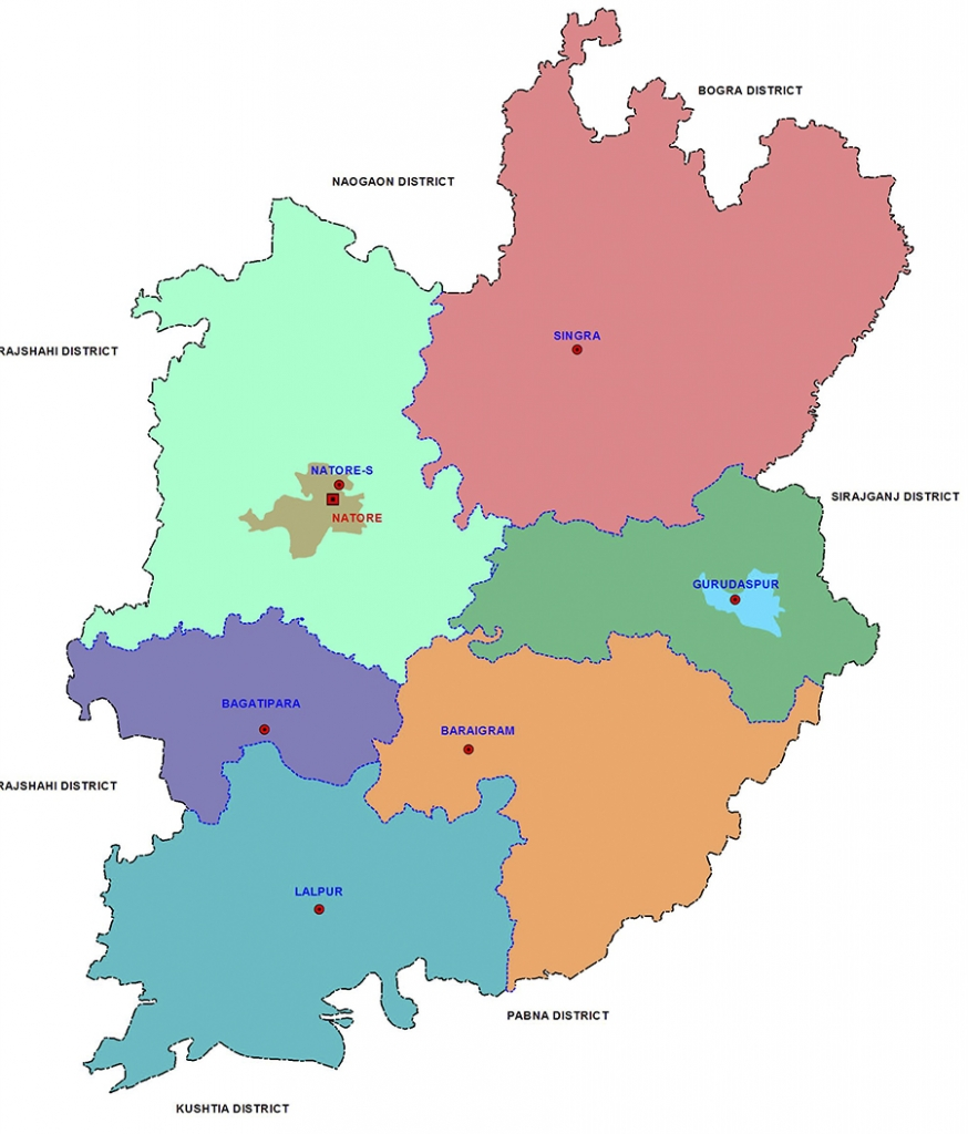 District Map of Natore